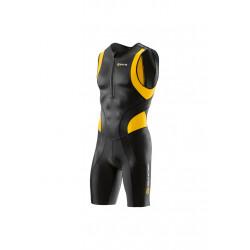 Skins Tri 400 Mens Skinsuit Front Zip - Article compression pour Homme - Noir