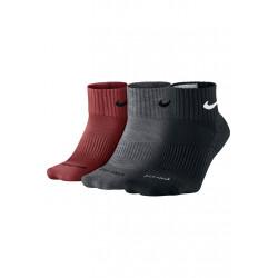 Nike 3 Pack Dri-Fit Cushion Quarter - Chaussettes running pour Homme - Noir