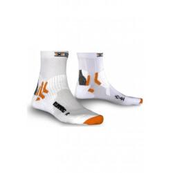 X-Socks Running Short white - Chaussettes running pour Homme - Gris