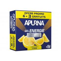 Apurna Etui Gels Energie 6+3 - Citron Diététique Gels