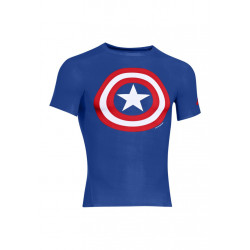 Under Armour Alter Ego Captain America Compresion Shirt - Article compression pour Homme -