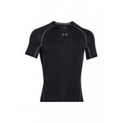 Under Armour HG Armour Short Sleeve Tee Article compression - Noir