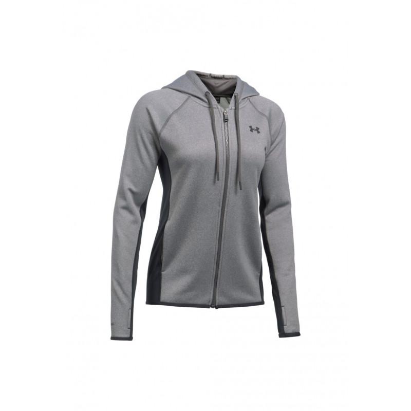 Vestes Armour Gris Course Zip Under Full Fleece Femme Pour wZXxd8qIA8