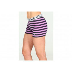 Nike Pro Cuissard court Stripes and Dots 7.5cm W vêtement running femme