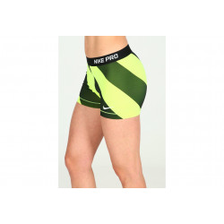 Nike Pro Cuissard court Diagonal Stripe 7.5cm W vêtement running femme