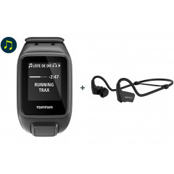 Tomtom Spark 3 Music + Casque Bluetooth - Small Cardio-Gps