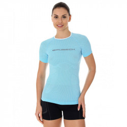 BRUBECK - T-shirt manches courtes Femme 3D RUN PRO ATHLETIC - couleur Arctic Ice - vue de face
