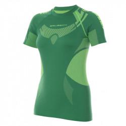 BRUBECK- T-shirt Femme manches courtes DRY - couleur vert clair