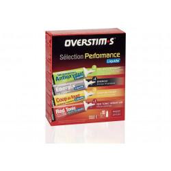 Overstims Pack Énergétique Sélection Performance Liquide 10 Gels Diététique Gels