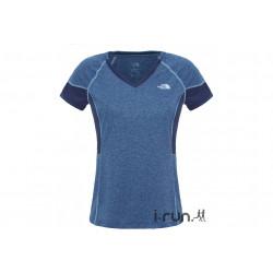 The North Face Tee-Shirt Reactor V-Neck W vêtement running femme