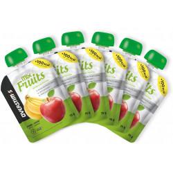 OVERSTIMS 6 Gourdes Mix Fruits - Pomme/banane Diététique Gels