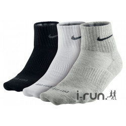 Nike 3 paires Dri-Fit Coton Lightweight Chaussettes