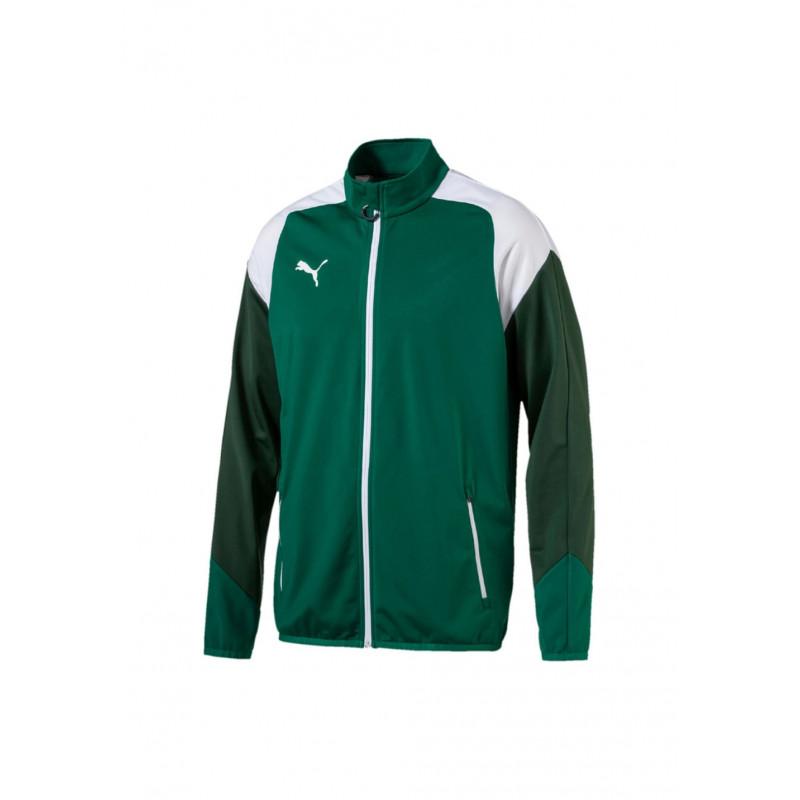 Puma Esito 4 Poly Tricot Jacket - Vestes course pour Homme - Vert c55453d6d371