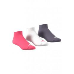 adidas 3-streifen Sneakersocken, 3 Paar Chaussettes running - Gris