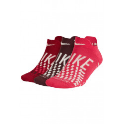 Nike Max Lightweight No-show Sock 3 Pair - Chaussettes running pour Femme - Rouge