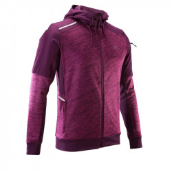 VESTE RUN WARM + POCKET prune