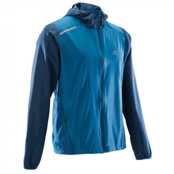 VESTE RUN WIND CAPUCHE H bleu