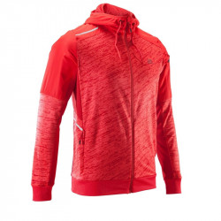 VESTE RUN WARM + POCKET rouge