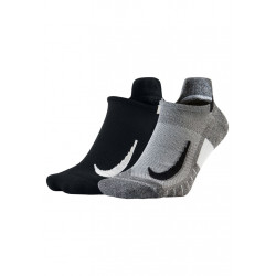 Nike Multiplier No-Show 2 Pair Chaussettes running - Gris