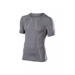 Falke Wool-tech Short Sleeve Comfort - Sous-vêtements sport pour Homme - Gris