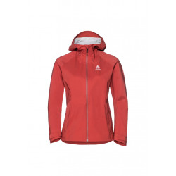 Odlo Jacket Aegis - Vestes course pour Femme - Rouge