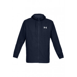 Under Armour Sportstyle Woven Full Zip Hoodie - Vestes course pour Homme - Noir