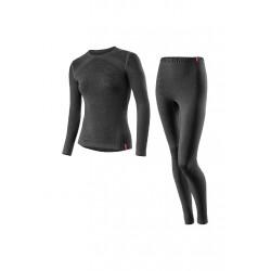Löffler Set Lang Transtex Warm Seamless - Sous-vêtements sport pour Femme - Gris