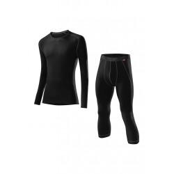 Löffler Transtex Warm 3/4 Pants Set - Sous-vêtements sport pour Homme - Noir