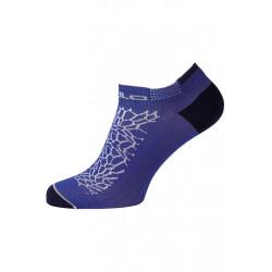 Odlo Socks Short Ceramicool Low Cut Light - Chaussettes running pour Femme - Bleu