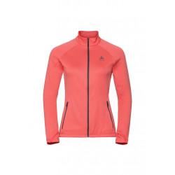 Odlo Midlayer Full Zip Proita - Vestes course pour Femme - Rouge