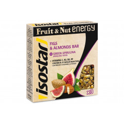 Isostar Etui 3 barres Fruit & Nut Energy - Figues et Amandes Diététique Barres