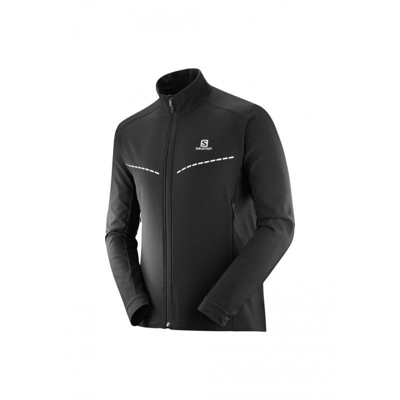 Salomon Black Agile Fleece Jacket Softshell xz41qH0c