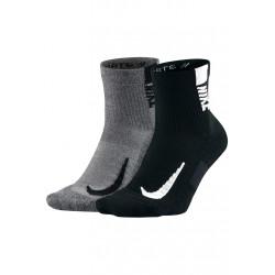 Nike Multiplier No-Show Socken 2 Paar Chaussettes running - Noir