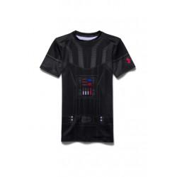 Under Armour Darth Vader HeatGear Short Sleeve - Article compression pour Enfant Unisexe - Noir