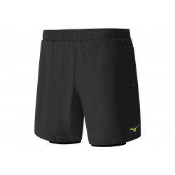 Mizuno Short 7.5 DryLite Square 2en1 vêtement running homme