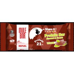 Test et AVIS sur la Barre Mulebar Vegan Refuel Chocolat Amandes - ancien packaging