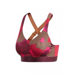adidas Stronger For It Soft Printed Bra - Brassières de sport pour Femme - Rouge