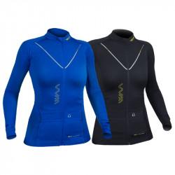 WAA Ultra Carrier Shirt Manches Longues Femme 2.0 - coloris Noir et bleu