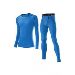 Löffler Set Lang Transtex Warm - Sous-vêtements sport pour Homme - Bleu