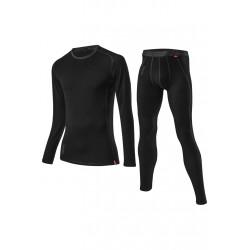 Löffler Transtex Merino Long Underpants Set - Sous-vêtements sport pour Homme - Noir