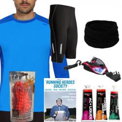 Pack running homme noël - déclinaison T-Shirt Manches longues et cuissard