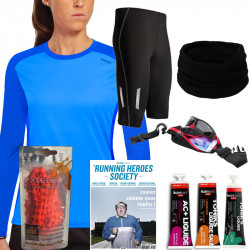 Pack running femme noël - déclinaison T-Shirt Manches longues et cuissard