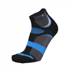 Test / Avis Chaussette de running SIERRA - La chaussette de France. Couleur noir et bleu