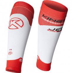 Manchon de compression KINETIK JET2 couleur rouge et blanc