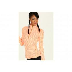Nike Element 1/2 Zip Stripe W vêtement running femme