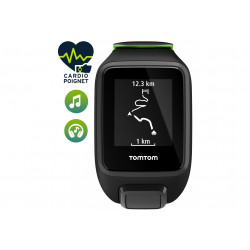 Tomtom Runner 3 Cardio + Music + Casque Bluetooth - Large Cardio-Gps