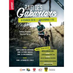 Raid des Gabariers - Chalvignac- Cantal - affiche édition 2019