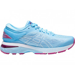 Avis de coureuses surchaussures running femme Asics Gel Kayano 25 - coloris SKYLIGHT/ILLUSION BLUE