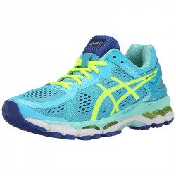 Avis-Asics Gel Kayano 22 W Chaussures running femme - coloris Ice Blue/Flash Yellow/Blue