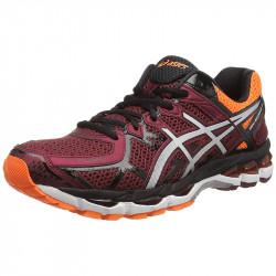 avis Asics Gel Kayano 21 M Chaussures running homme coloris Rouge (Deep Ruby/Silver/Hot Orange 2693)